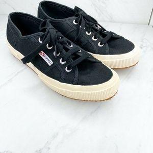 Superga 2750 Cotu Classic Black Sneakers Shoes 6.5